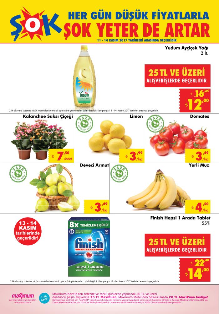 Şok Market 11 Kasım – 14 Kasım indirimli ürünleri