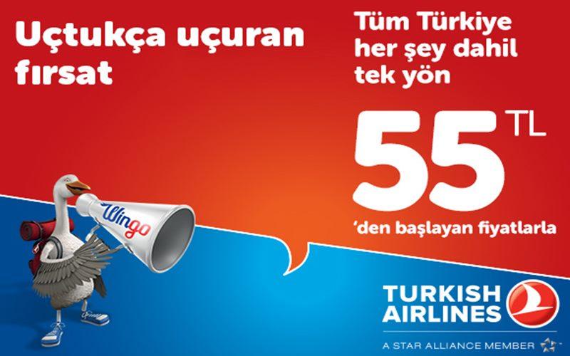 Uçak Bileti Kampanyası:THY ile uçmak 55 TL