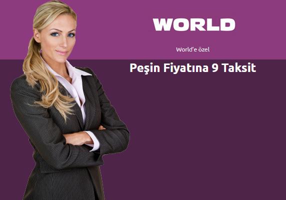 Worldcard kampanyasında peşin fiyatına 9 taksit
