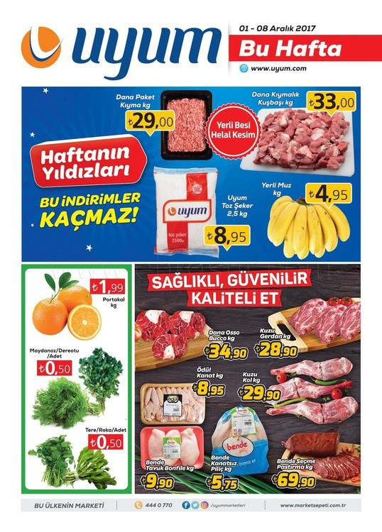 Uyum market 1-8 Aralık indirim kataloğu