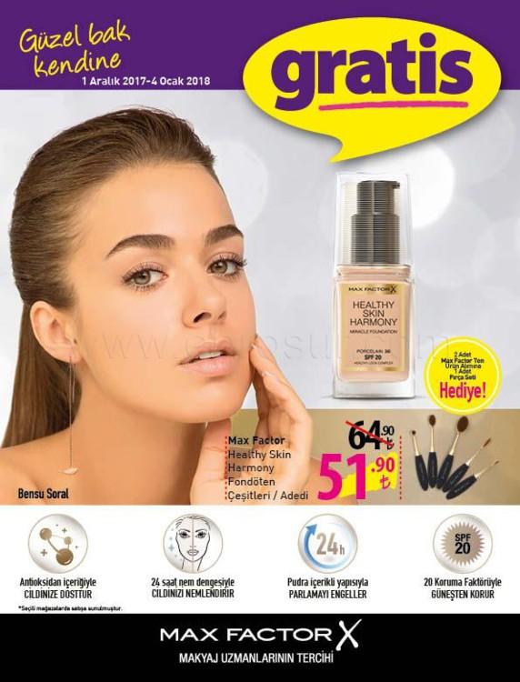 Gratis 01 Aralık – 04 Ocak Kampanyalı ürünler kataloğu