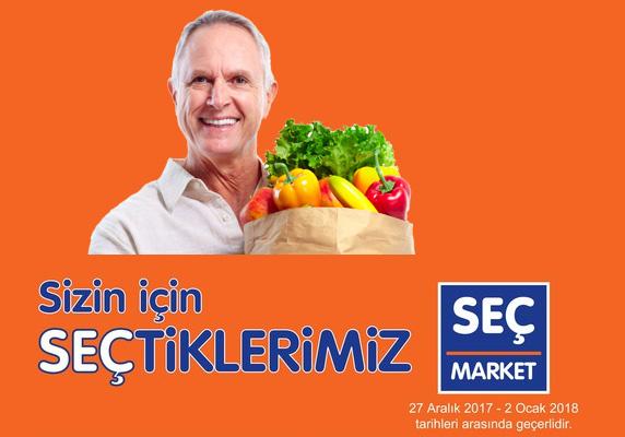 SEÇ market 27 Aralık 2017 – 2 Ocak 2018 indirim kataloğu