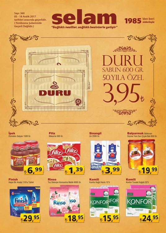 Selam Market Aralık 2017 indirimli ürünleri