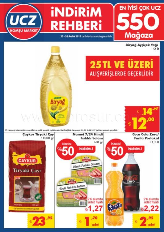 UCZ Markette bu hafta indirimli ürünler