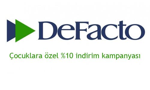 DeFacto yüzde 10 çocuk indirimi