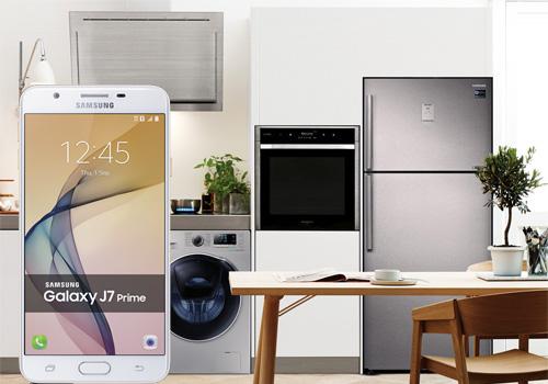 Samsung alışverişinize Galaxy j7 prime hediye