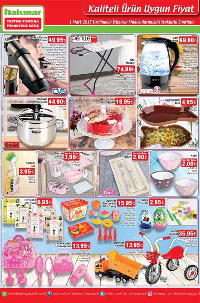 Hakmar 1 Mart 2018 kampanyalı ürünleri