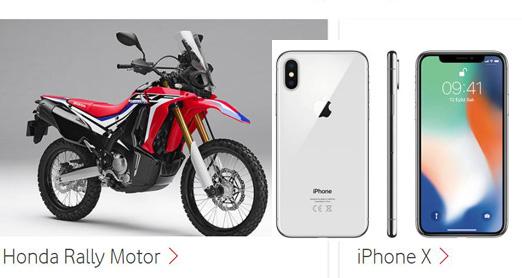 Vodafone Motosiklet ve iPhoneX Çekiliş Sonucu