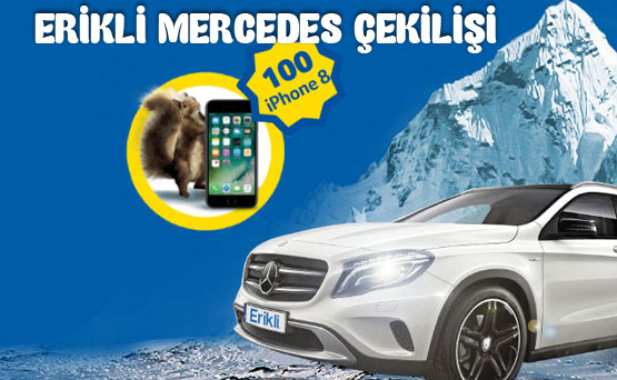 Erikli Mercedes ve iPhone 8 Çekilişi 2018