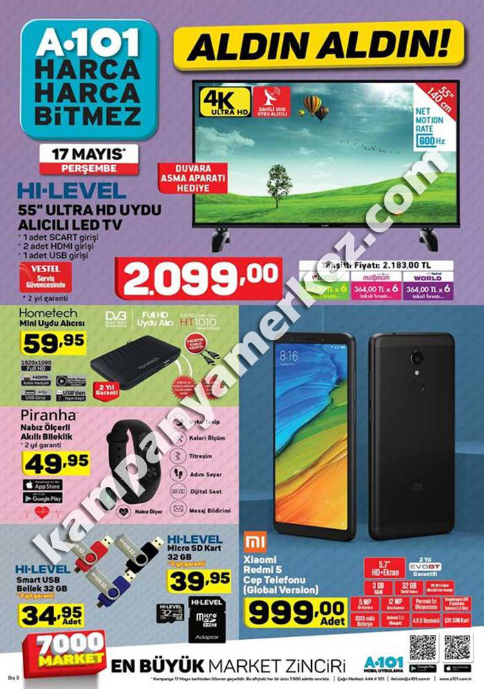 Kampanyalı ürünler A101 17 Mayıs 2018
