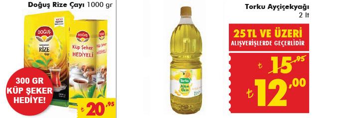 Şok market 25 TL ve üzeri indirimli ürünler