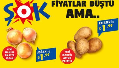 Şok markette Soğan ve Patates ucuzladı ama