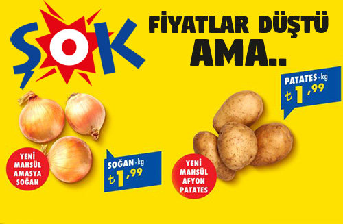 Şok market soğan ve patates fiyatları