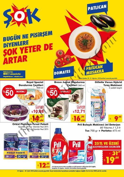 Şok Market 29 Ağustos 5 Eylül aktüel Ürün broşürleri