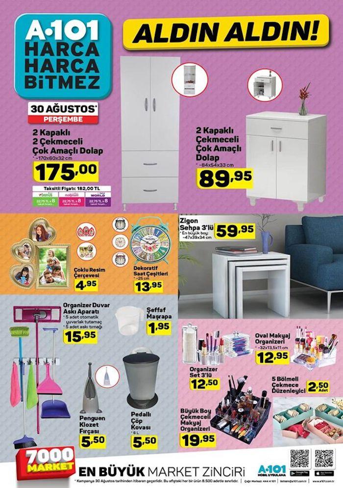 A101 6 Eylül 2018 mobilya kampanyası