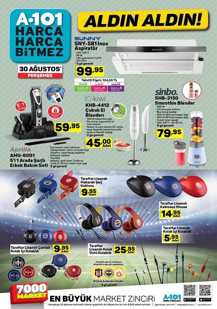 A101 6 Eylül klima ve elektronik ürünler kampanyası