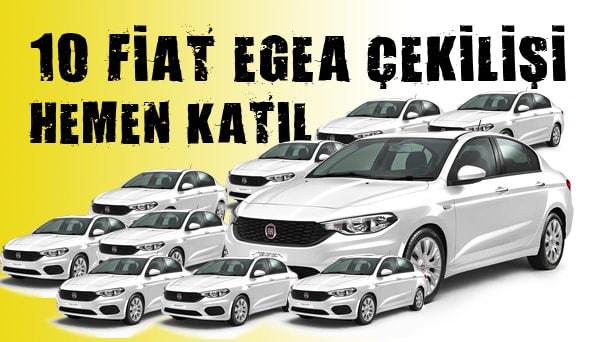 Fiat Egea çekilişi araba kazandıran çekilişler 2018