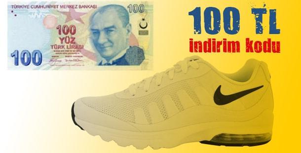 Spor ürünlerinde 100 TL indirim kodu