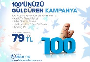 Kablonetten 100'ünüzü Güldüren Kampanya