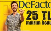 DeFacto 25 TL'lik indirim kodu (BEDAVA)