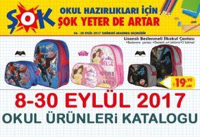 ŞOK market aktüel okul malzemeleri kataloğu – 8-30 Eylül 2017