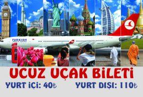 Ucuz Uçak Bileti Yurt İçi ve Yurt Dışı Uçuş Fırsatları