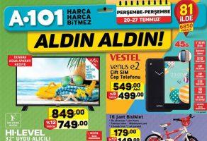 A101 20 Temmuz – 27 Temmuz İndirimli ürünler kataloğu