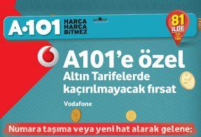 Vodafone A101 hediye çeki kampanyası