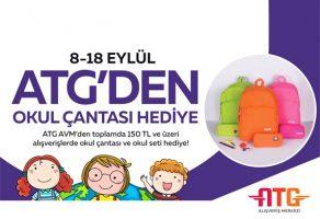 ATG AVM' okul kampanyasında okul çantası ve okul seti hediyesi