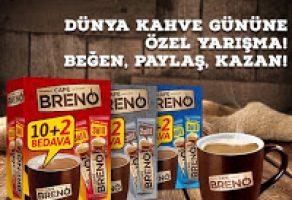 Café Breno 10 Kişiye Kahve ve Kupa Hediye Ediyor
