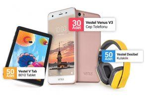 30 Adet Vestel Venüs V3 Cep Telefonu çekilişine katılın
