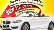 Şanslıpaket ile BMW 218i Cabrio kazanmak için çekilişe katıl