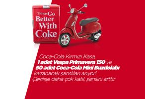 50 Coca-Cola Buzdolabı ve 1 Vespa Çekilişi