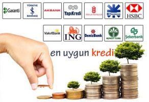 En uygun ihtiyaç kredisi, konut kredisi ve taşıt kredisi veren bankalar