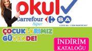 Carrefour okul alışveriş kampanyası kataloğu  Eylül – Ekim 2017
