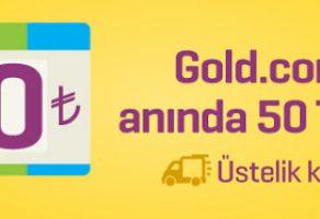 Gold'da 500 TL Alışverişe 50 TL İndirim