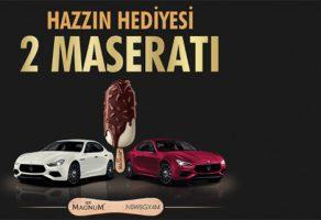 Magnum Maserati Ghibli Diesel 2019 çekiliş kampanyası