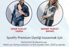 Mavi Jeans'ten Ücretsiz Spotify Premium Üyelik