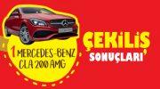 Ülker Mercedes çekiliş sonuçları