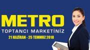 Metro Toptancı Market 21 Haziran – 25 Temmuz 2018 Katalog
