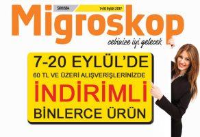 Migros'ta Gördüğünüze İnanın! Migros 7-20 Eylül İndirimli Ürünler Kataloğu