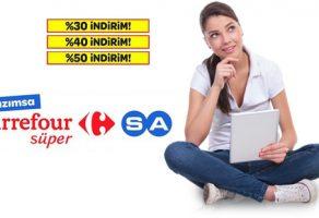 Carrefour yüzde 50 indirim kampanyalı ürünler