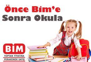 Önce Bim'e Sonra Okula kampanyasında 11 Eylül 2017 Pazartesi indirim katalogları