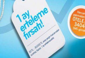 Halkbank Paraf karttan 1 ay erteleme fırsatı