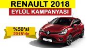 Renault Eylül kampanyasında ödemeyi 2018 yılında tamamlayın