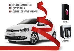 1 Kişiye Volkswagen Polo ve 11 kişiye iPhone 7 Çekilişi