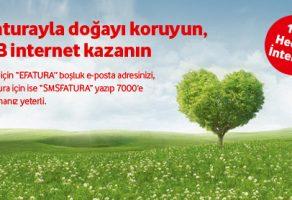 E-Faturaya Geçenlere 1 GB İnternet Hediye